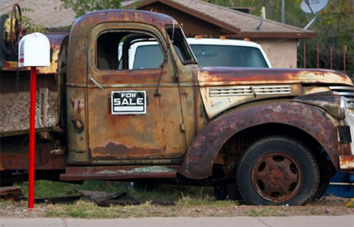 Firmenwagen als Briefkasten