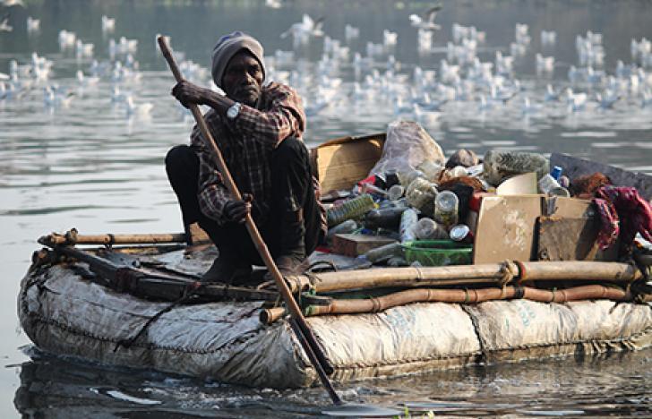 Mikroplastik in Seen und Wassertieren